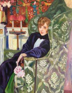 Yvonne Printemps in an Armchair