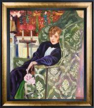 Yvonne Printemps in an Armchair Pre-Framed
