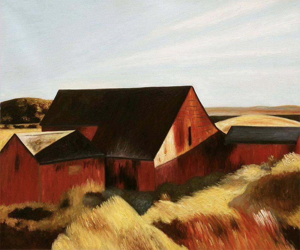 Hopper - Cobb\'s Barns, South Truro, 1933 - Reproduction Painting