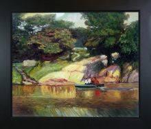 Boating in Central Park Pre-Framed