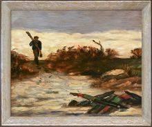 Fisherman by Water Pre-Framed