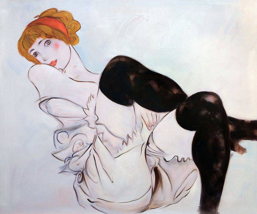 Woman with Black Stockings, 1913