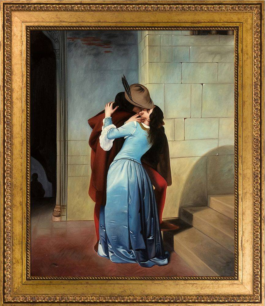 The Kiss Pre-Framed