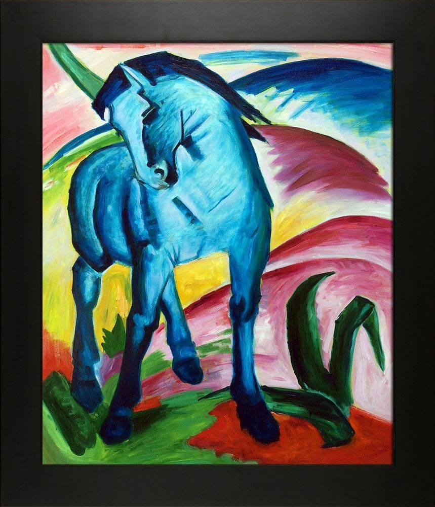 Blaues Pferd I - Monaco Pre-Framed