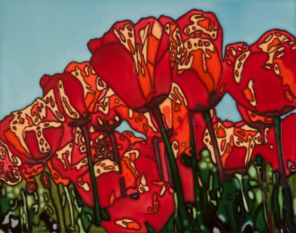 The Tulip Accent Tile (felt back)