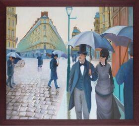 A Paris Street, Rainy Day Pre-Framed