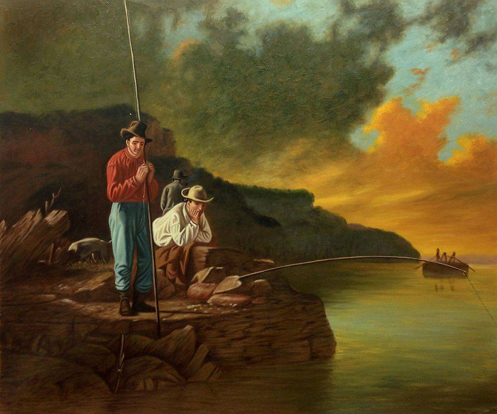 Fishing on the Mississippi, 1851