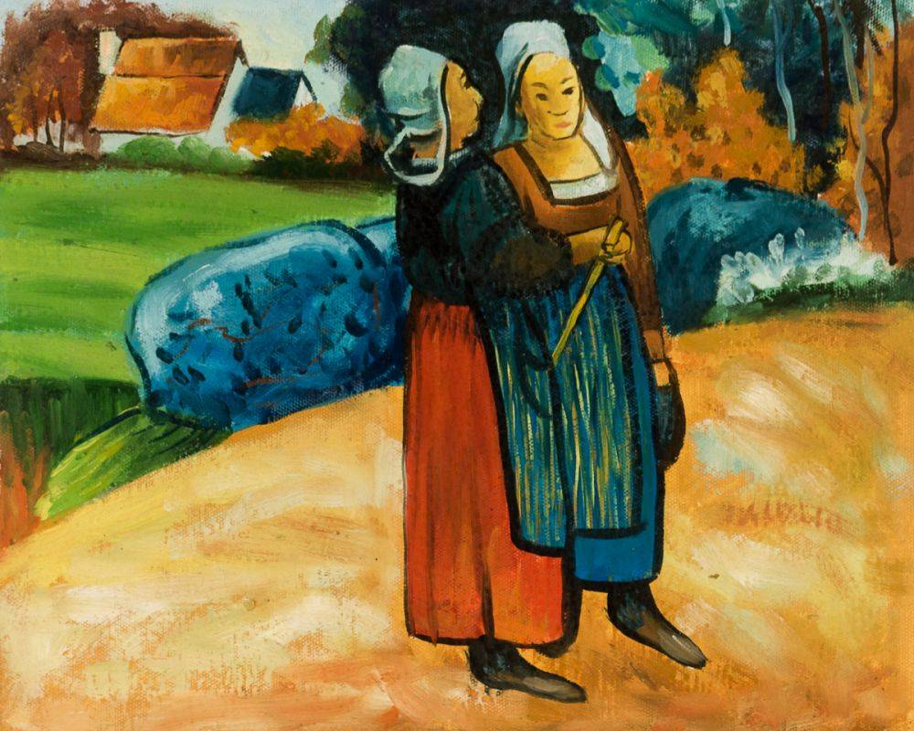 Two Breton Women on the Road