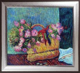 Basket of Flowers, 1884 Pre-Framed