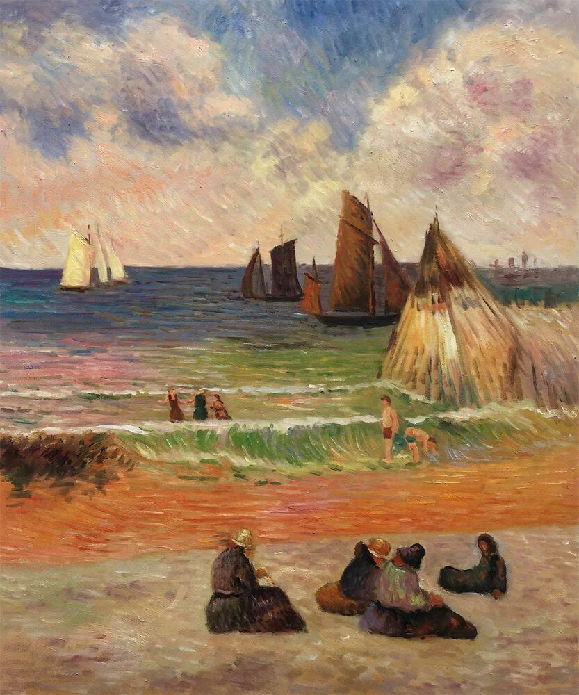 Bathing, Dieppe, 1885