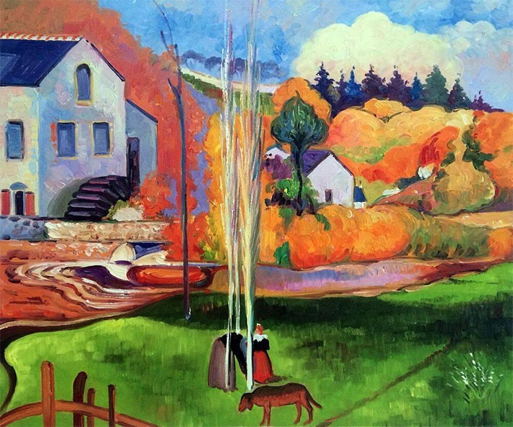 A Breton Landscape. David's Mill., 1894