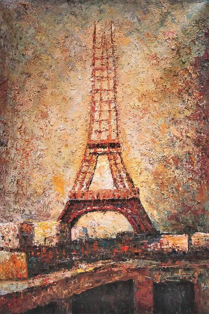 The Eiffel Tower 1889 Georges Seurat Oil Painting