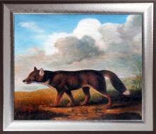 Portrait of a Large Dog Pre-Framed