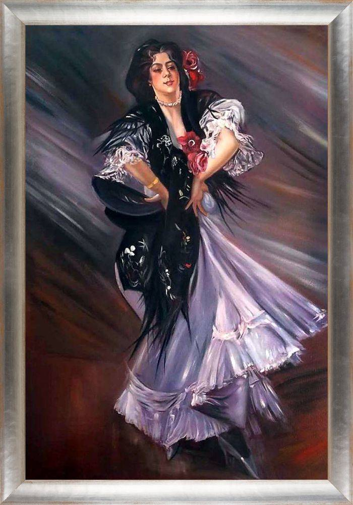 Portrait of Anita de la Ferie The Spanish Dancer Pre-Framed