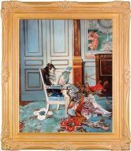 Girl Reading in a Salon, 1876 Pre-Framed