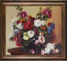 Bouquet of Diverse Flowers Pre-Framed