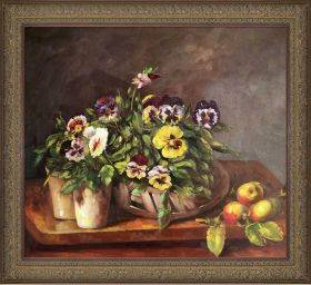 Still Life with Pansies Pre-Framed