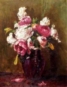 White Peonies and Roses, Narcissus