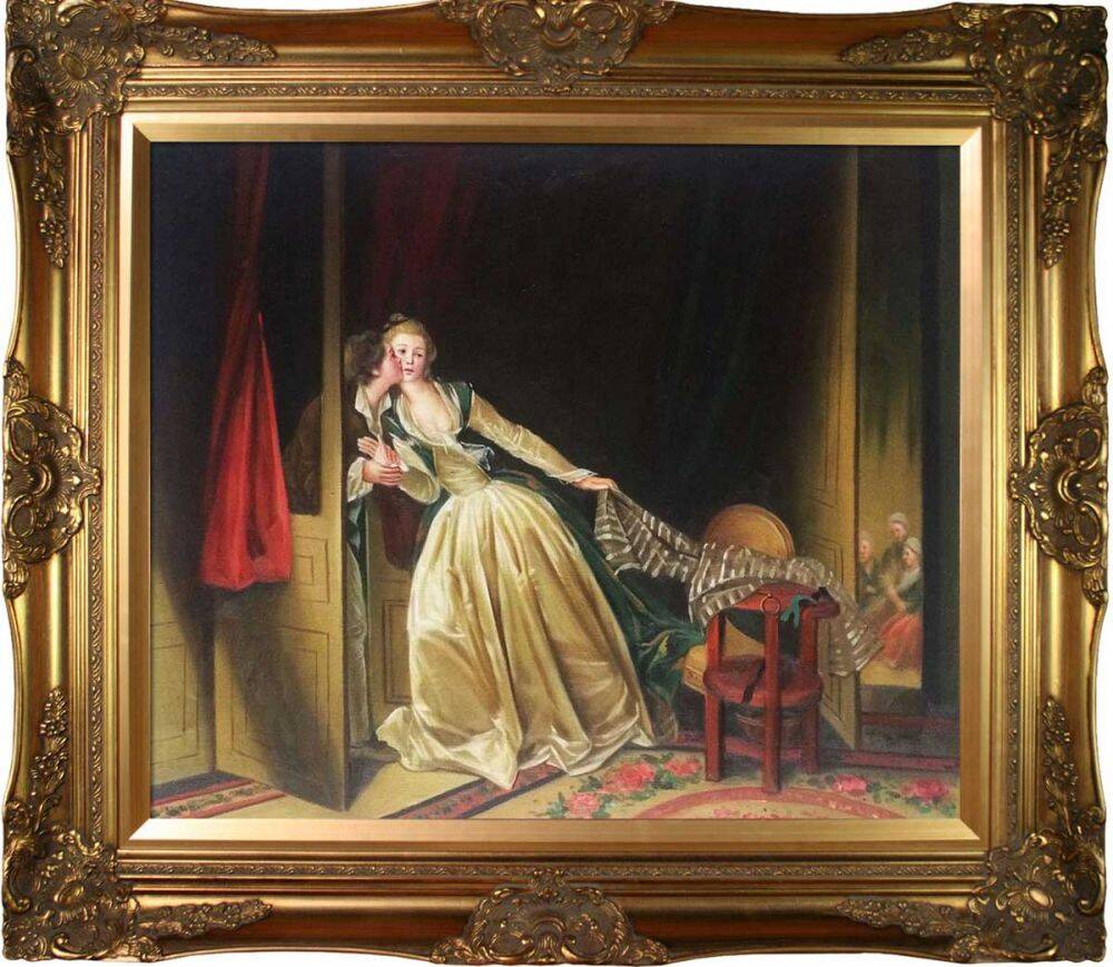 The Stolen Kiss, late 1780s Pre-Framed