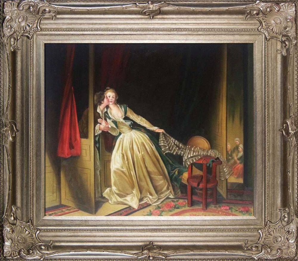 The Stolen Kiss, late 1780s Pre-Framed