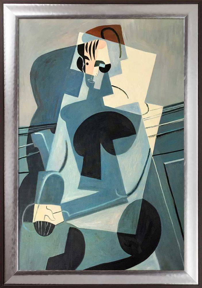 Portrait of Josette Gris Preframed