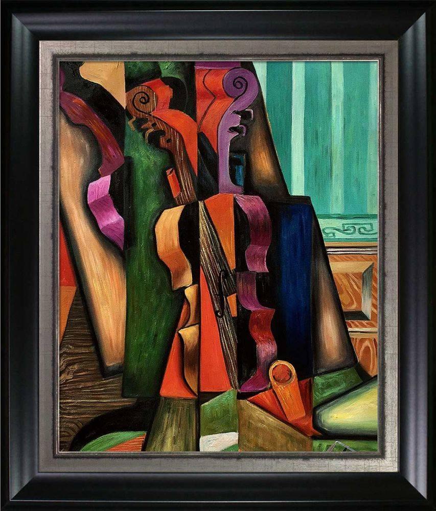Violon et guitare Preframed