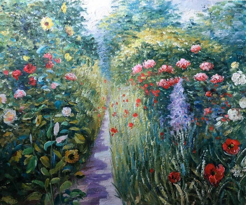 John Leslie Breck Garden at Giverny (In Monet's Garden)