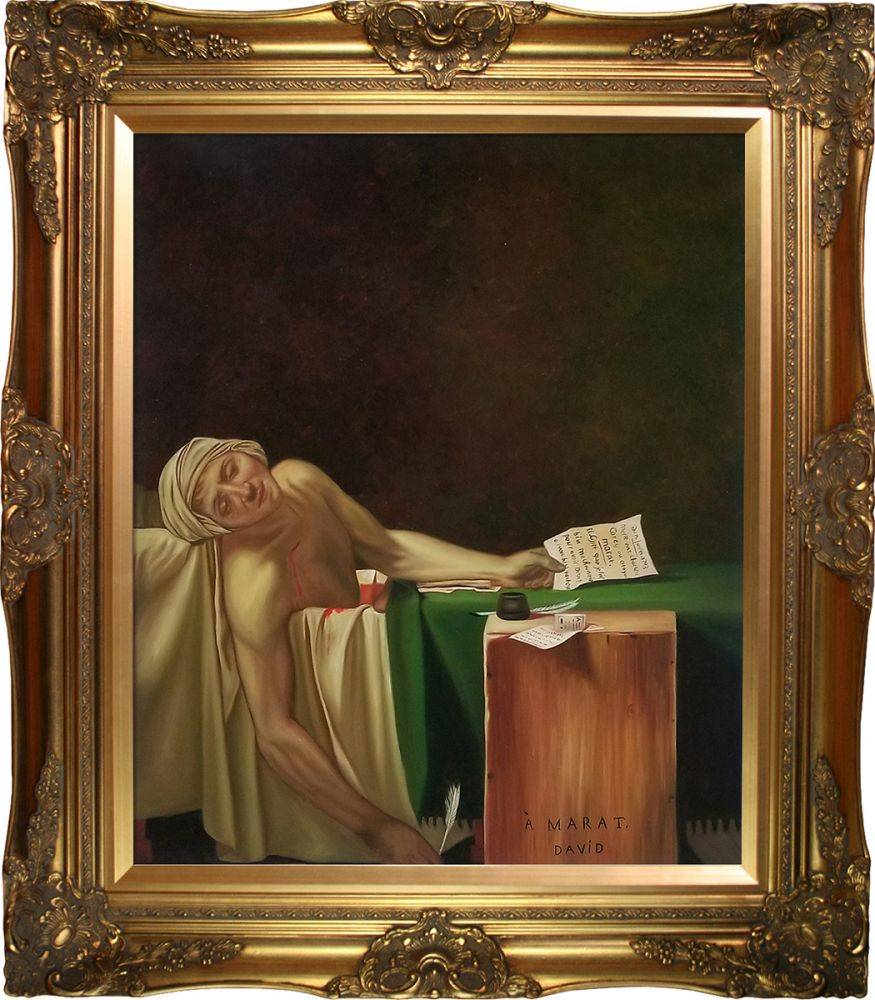 The Death of Marat, 1793 Pre-Framed