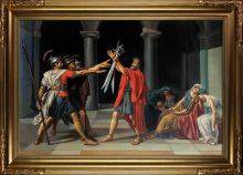 Oath of the Horatii, 1784-1785 Pre-Framed