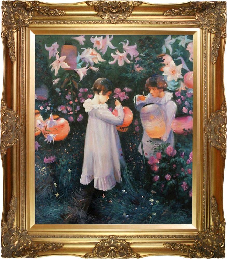 Carnation, Lily, Lily, Rose Pre-Framed