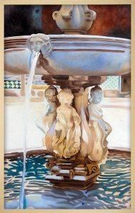 Spanish Fountain Pre-Framed