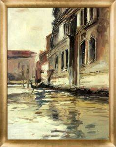 Venetian Canal, Palazzo Corner, 1880 Pre-Framed