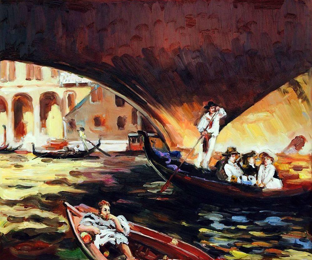 The Rialto, Venice, 1909