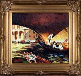 The Rialto, Venice, 1909 Pre-Framed