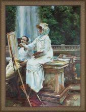 The Fountain, Villa Torlonia, Frascati, Italy Pre-Framed
