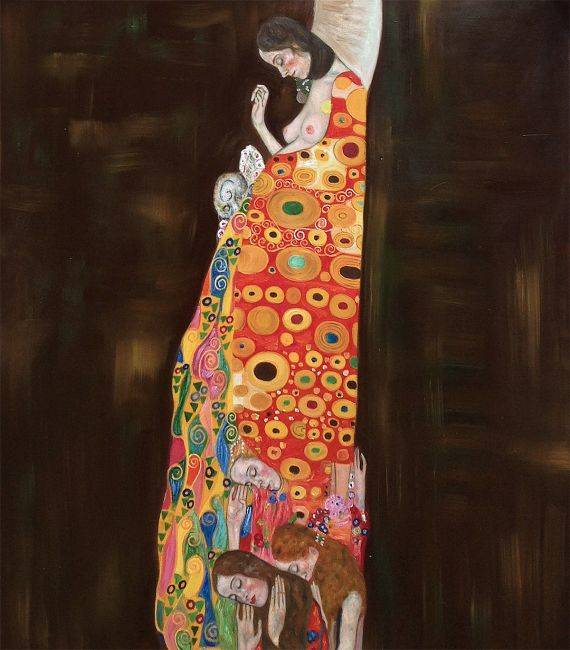 Gustav Klimt Hope Ii Full View Hand Painted Oil