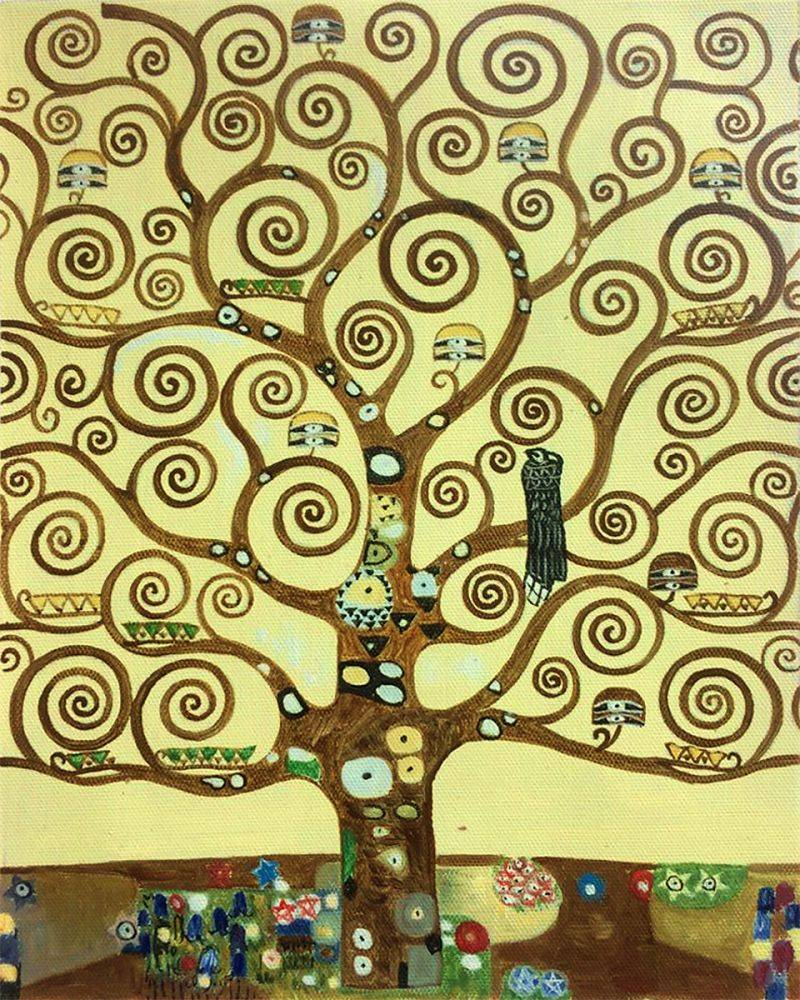 Klimt Tree Of Life Oil Painting Reproduction