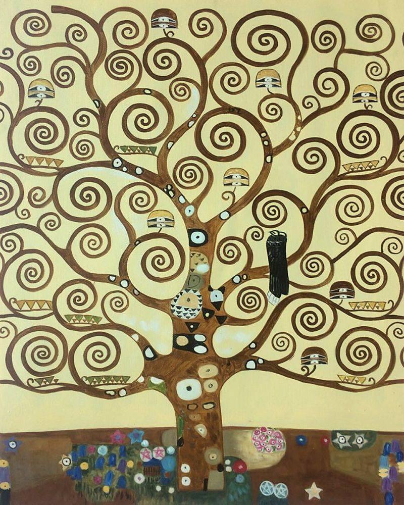 Gustav Klimt, Tree of Life - Hand Painted Oil Painting on Canvas