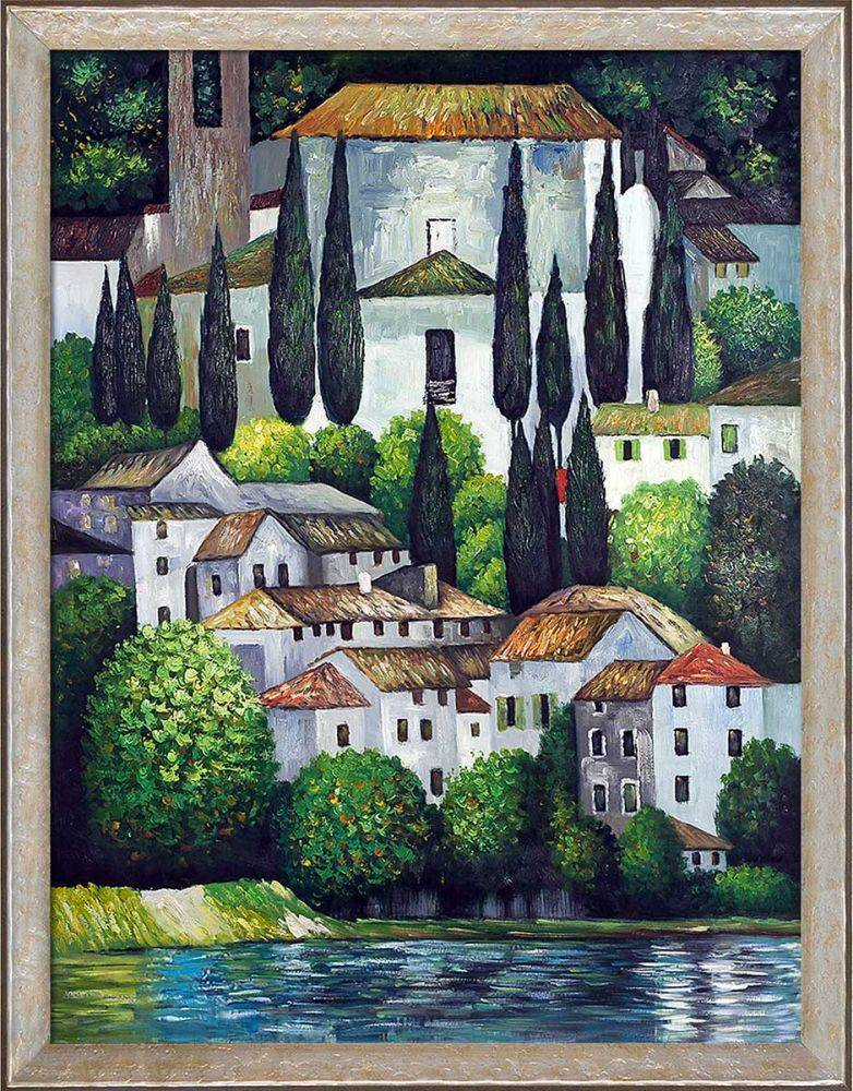 Church in Cassone (Landscape with Cypress) Pre-Framed