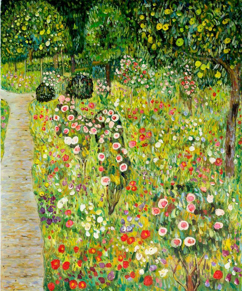 Fruit Garden With Roses