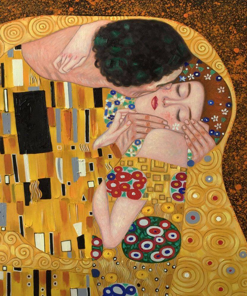 Klimt - The Kiss - BEST SELLER Reproduction Oil on Canvas
