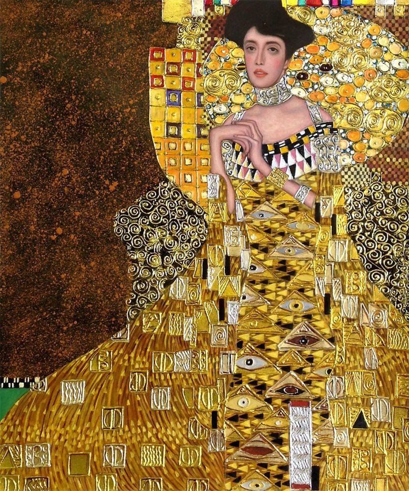 klimt portrait of adele bloch bauer i luxury line. Black Bedroom Furniture Sets. Home Design Ideas