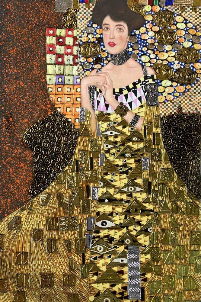 klimt portrait of adele bloch bauer i luxury line oil painting. Black Bedroom Furniture Sets. Home Design Ideas