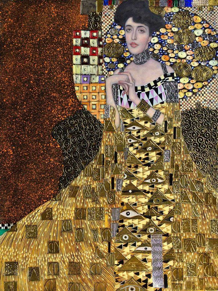 klimt portrait of adele bloch bauer i 1907 luxury line. Black Bedroom Furniture Sets. Home Design Ideas