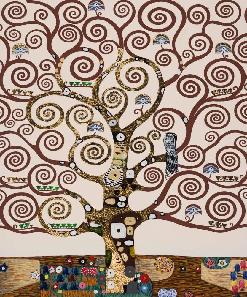 Gustav Klimt, Tree of Life (Luxury Line) - Hand Painted Oil Painting ...