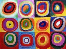Farbstudie Quadrate