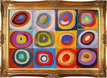 Farbstudie Quadrate Pre-Framed
