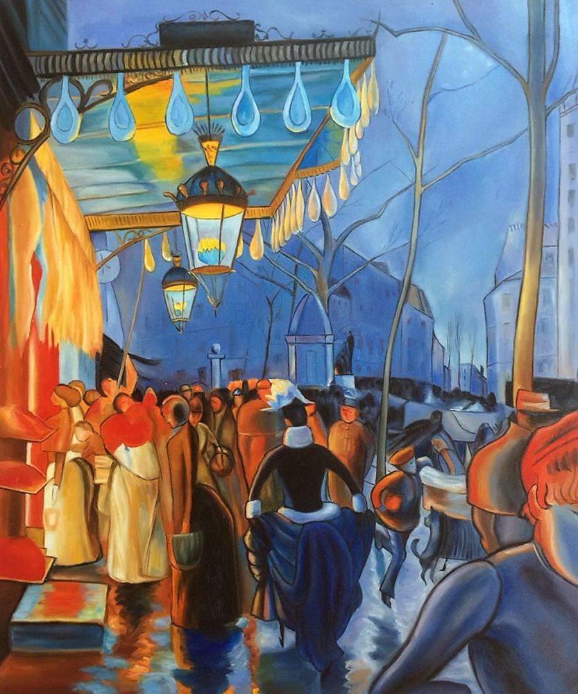 Avenue de Clichy, le Soir, Cinq Heures, 1887