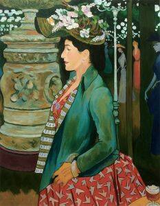 Elegante de profil au Bal Mabille, 1888