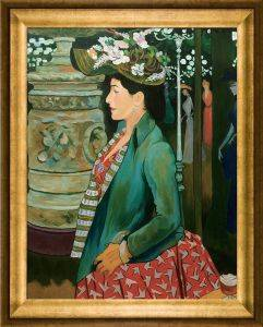 Elegante de profil au Bal Mabille, 1888 Pre-Framed